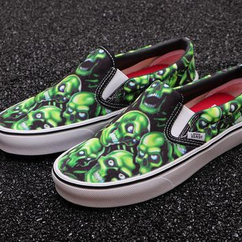 Vans Slip-On Skull Pile X Supreme Canvas Shoes - Best Deal Online