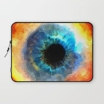 The Eye of Evil, demonic looking galaxy, nebula, beauty of deep space, rich colors Laptop Sleeve by Peter Reiss