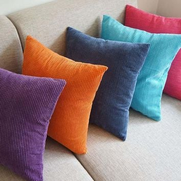 Corn kernels Corduroy Sofa Decor throw Pillow  Cushion  Square 40cm PML