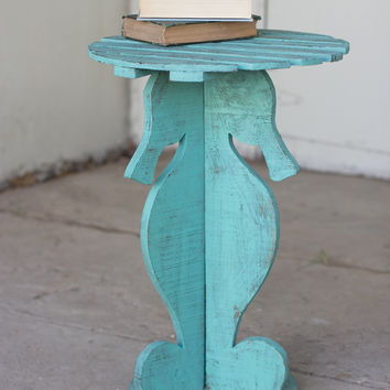 Wooden Seahorse Table