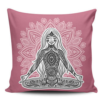Yoga Mandala Spiritual Pillow Covers