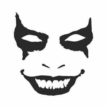 Joker Face Bumper Sticker Vinyl Decal Batman Gotham City Honda Acura Dope Euro Turbo Jeep BMW Chevy