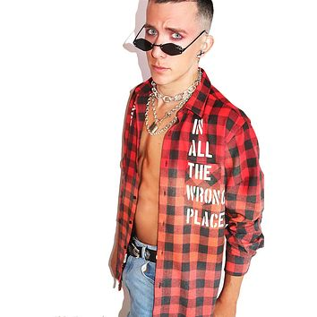 Looking for Love Plaid Shirt- Red