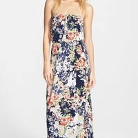 Junior Women's Trixxi Print Maxi Dress