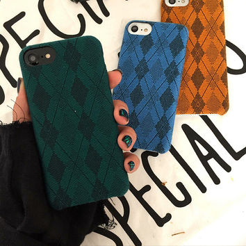 Retro Lattice iPhone 7 7Plus & iPhone se 5s 6 6 Plus Case Cover +Gift Box-191