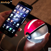 Pokemon Go Pokeball Power Bank 10000mAh Cute Poke Ball for iPhone Samsung Huawei External Battery Charger Powerbank