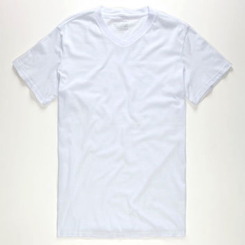 Blue Crown Mens V-Neck Tee White  In Sizes