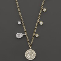 Gold Disc Necklace by Meira T