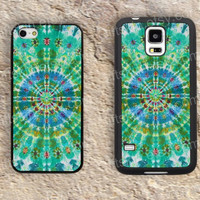 Green and blue Mandala iphone 4 4s iphone  5 5s iphone 5c case samsung galaxy s3 s4 case s5 galaxy note2 note3 case cover skin