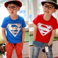 Children t-shirt Kids Clothing Tees Cool Superman Baby Boys girls T Shirts For Summer Children Outwear Baby T-shirt = 1946842180