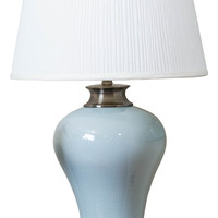 Michael Anthony Furniture Vanguard Series Pale Blue Tapered Table Lamp