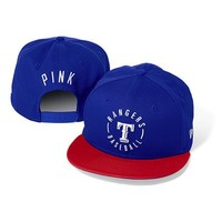 Texas Rangers Colorblock Baseball Hat  - PINK - Victoria's Secret