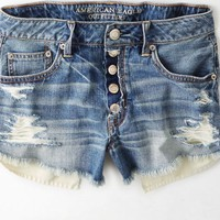 AEO Women's Hi-rise Festival Shortie (Medium Destroyed)