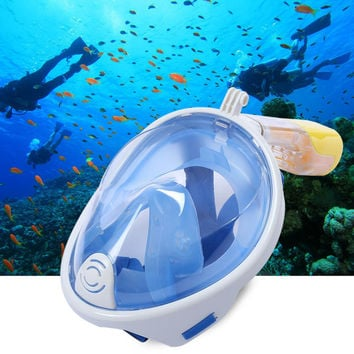 Liquid Silicone Scuba Full Face Diving Mask  Diving Equipment Snorkel For Wide Masks With Camera Holder Swim Underwater Sport