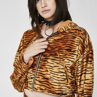 Tiger Baby Cropped Hoodie