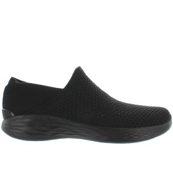 Skechers You Walk - You Slip Black Mesh Slip-On Sneaker