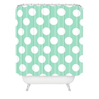 Allyson Johnson Mintiest Polka Dots Shower Curtain