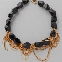 Gemma Redux Stone and Chain Necklace