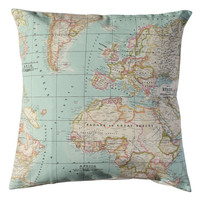 World Map Pillow cover.