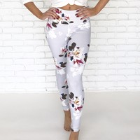 Floral Forte High Waist Yoga Pants