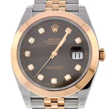 Rolex Datejust 41mm Chocolate Brown Dial Steel and 18K Rose Gold Men's Watch 126301