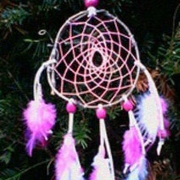 Dream Catcher Glow in the dark Pink