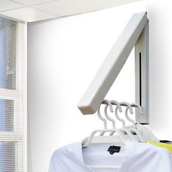 Triangle Sturdy Retractable Hanger Clothes Wall Hanging Storage System Hotel & Home Storage Tool