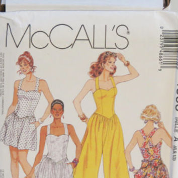 McCall's fashion basics sewing pattern 4866 women's sundress jumpsuit or romper size 6-8-10