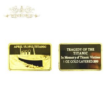 In Memory of Titanic Victims 1oz Gold Bullion Bar Commemorative