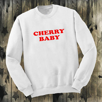 Cherry red baby Jumper sweater girl boy 90s festival harajuku funny tumblr hipster grunge goth retro Kpop kawaii cute