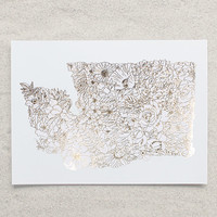 Botanical Washington Foil Print