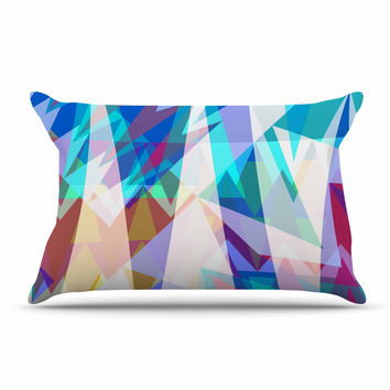 "Miranda Mol ""Triangle Party"" Multicolor Pillow Sham"
