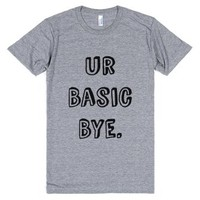 Ur Basic Bye Shirt (idb521826)-Unisex Athletic Grey T-Shirt