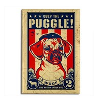 Obey the PUGGLE! USA propaganda Magnet by dogs_of_war
