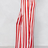 A Step in the Stripe Direction Satin Pants
