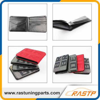 RASTP - JDM Style 4 Type Customized Bride Racing Fabric JDM Bride Wallet Money Clip LS-BAG001