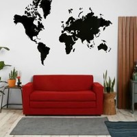 World Map Wall DecalOnline Only!