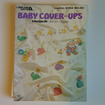 Baby Cover-Ups Leisure Arts 2154 Cross Stitch 1991