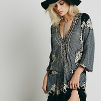 Free People Womens Border Print Dropwaist Tunic