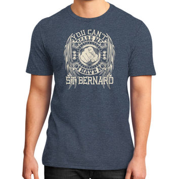 You can't scare me I have a ST Bernard District T-Shirt (on man)