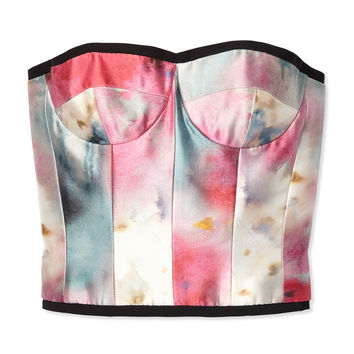Honor Printed Bustier Top - Cropped Bustier - ShopBAZAAR