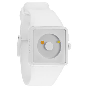 Nixon A1161254 Men's The Newton White Lum Dial White Rubber Strap Plastic Watch