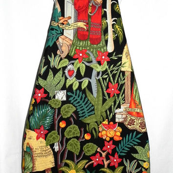 Ironing Board Cover Frida Kahlo exotic fabric - Frida's Garden - Laundry and Housewares