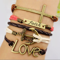 Love Faith Anchor Set