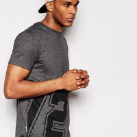 River Island | River Island T-Shirt with 72 Print and Side Zip at ASOS