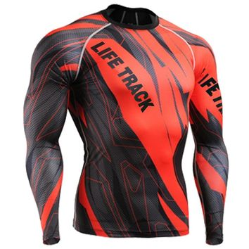 2018 spring sport t shirt men full printing surf shirts red blue green long sleeve sports clothes sublimation clothes