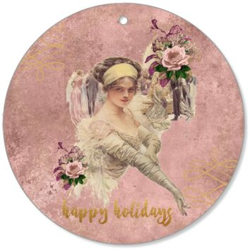 Harrison Fisher Beauties Canvas Ornaments