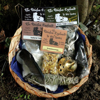 Complete Purification Ritual Kit, incense gift set, smuding ritual kit, new home spell, housewarming gift, banishing negativity, yule gifts