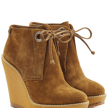 Burberry Shoes & Accessories - Suede Ankle Boot Wedges