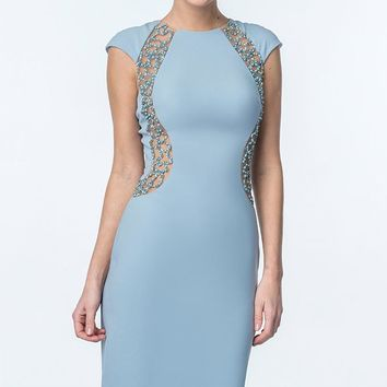 Beaded Fitted Dress by Terani Couture Evening